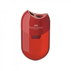 Faber Castell Sharpener Double Hole, Red