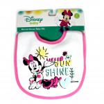 Mickey & Minnie Cotton Baby Bib, Pink