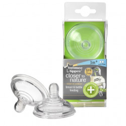 Tommee Tippee Closer To Nature Nipplies, +3 months, Med Flow