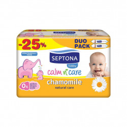 Septona Baby Wipes Chamomile 64 x2 @ 25% off