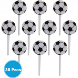Amscan - Soccer Ball Cupcake Plastic Picks - 36 pcs