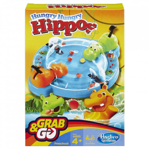 Hasbro - Hungry Hungry Hippo Grab and Go