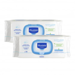 Mustela Cleansing Baby Wipes 70 pieces X2
