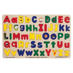 Melissa & Doug Upper & Lower Case Alphabet Puzzle