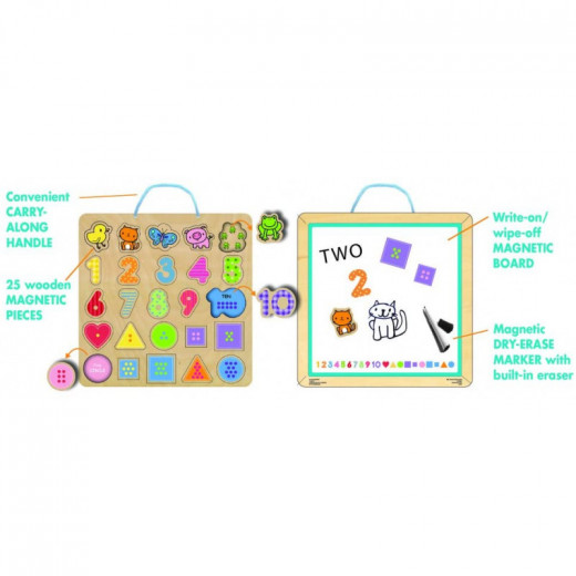 Numbers Magnetic 25 Puzzle & Play Board