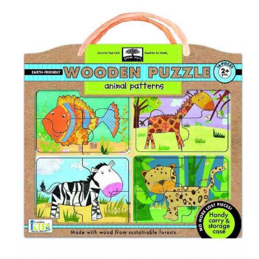 الألغاز الخشبية - أنماط الحيوانات من الأطفال المبتكرون