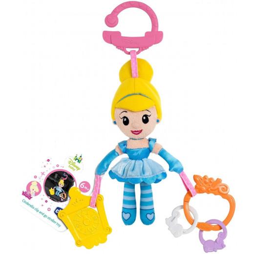 Chicco Disney Princess Cinderella Pushchair, Pram and Stroller Clip-on Doll Toy