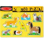 Melissa & Doug Pets Sound Puzzle - 8 Pieces