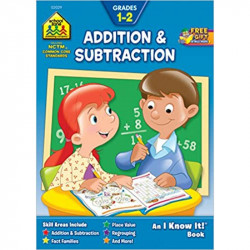 School Zone Addition & Subtraction 1-2 Workbook, 32 pages