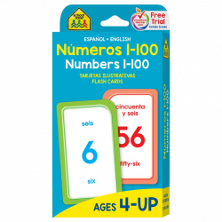 School Zone Numbers 1-100 Flash Cards, 56 cards