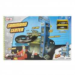 Maisto Fresh Metal Command Center Police Station Kids Car Track Playset Car