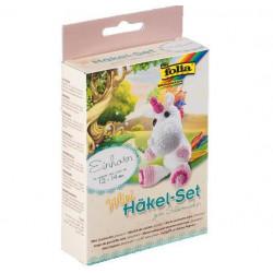 Folia Mini Lama Crochet Set 'Unicorn'