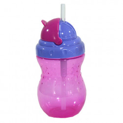 Nuby Flip-it Leakproof Straw Bottle (320ml), Purple