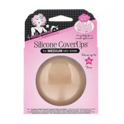 Hollywood Fashion Secrets Silicone Nipple Coverups, Medium Shade, 1 pair