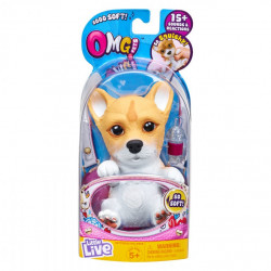Little Live OMG Pets - Soft and Fluffy Interactive Puppy Come to Life, Cry & Eat - Corgi