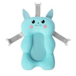 Newborn Bathtub Pillow - Baby Bath Seat Support Mat - Blue