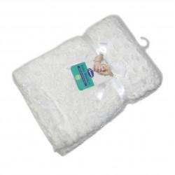 Plush Baby Blanket- White