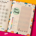 Mofakera Pastel Marble Agenda Only for 2021