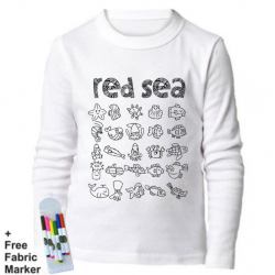 Mlabbas Red Sea Kids Coloring Long Sleeve Shirt  7-8 years