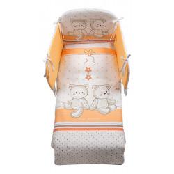Italbaby 5 Piece Maxi Hello Bedding Set, Orange, One Size