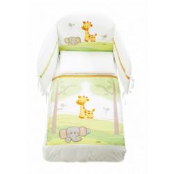 Italbaby 5 Piece Maxi Gina Bedding Set, Green, One Size