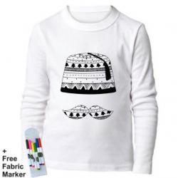 Mlabbas Tarboush Kids Coloring Long Sleeve Shirt 1-2 years