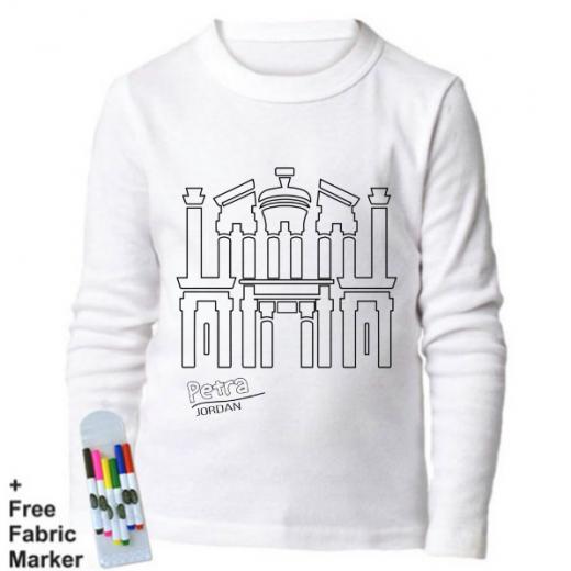 Mlabbas Petra Kids Coloring Long Sleeve Shirt 12-13 years