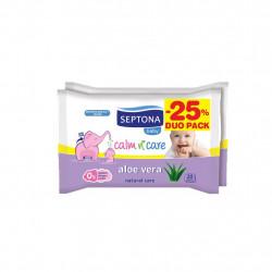 Septona Baby Wipes Aloe Vera  20pcs x2 @ 25%