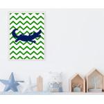 مطبوعات فنية جدارية بإطار خشبي غير عادي ، تمساح - من اكسترا اورديناري, A3