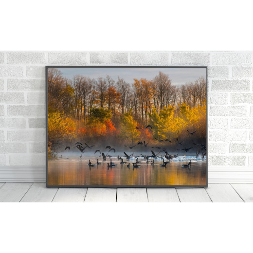 ExtraOrdinary Decorative Wood Framed Wall Art Prints, Mix Fall Posters, A4 size