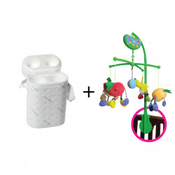 Farlin Package - ( aBaby - Fruitty Mobile + Farlin - Bottle Holder With two insulated bottle holder )
