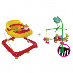 Farlin Package - ( ababy Baby Walker + aBaby - Birds Mobile )