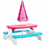 Little Tikes L.O.L. Surprise! Birthday Party Kids Picnic Table with Umbrella