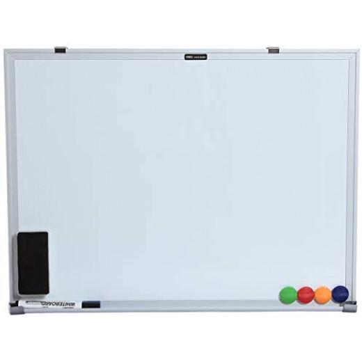 سبورة ديلي بيضاء 90 × 120 سم + 1 ممحاة واحدة + قلم سبورة بيضاء