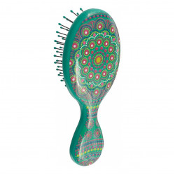Wet Brush Mandala-Green Mini Detangler -Kids and On the Go