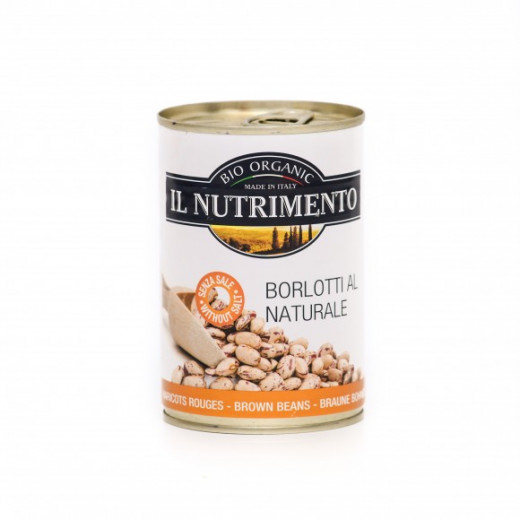 بازلاء بني عضوي في الماء 400 جرام من إل نيوتريمينتو