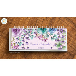 InterestinGadgets Personalized Desk Calendar, Floral
