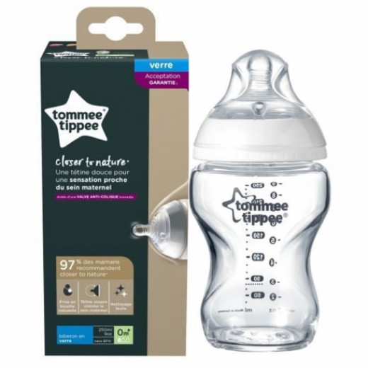 Tommee Tippee Closer to Nature 250 ml Glass Bottle