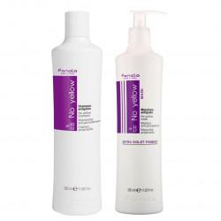 Fanola No Yellow Package 350 ml ( Shampoo + Mask )