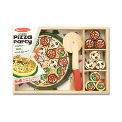 طعام خشبي بشكل بيتزا من ميليسا اند دو