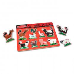 Melissa & Doug Farm Animals Sound Puzzle - 8 Pieces