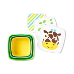 Skip Hop Toddler Food Storage Snack Box Set, Giraffe