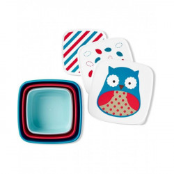 Skip Hop Toddler Food Storage Snack Box Set, Owl