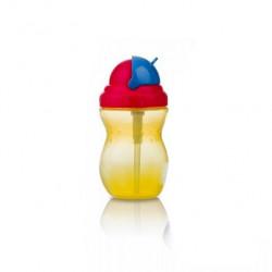 Nuby Flip-it Leakproof Straw Bottle (320ml), yellow