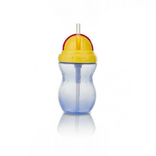 Nuby Flip-it Leakproof Straw Bottle (320ml),Blue