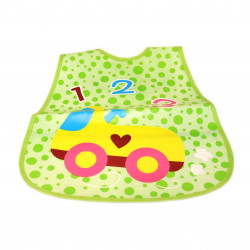 Plastic Baby Bib Waterproof, 1 2 3 Car