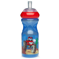 Nuby Sport sippy cup with silicone sippy tube 300ml - Red