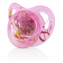 Nuby Classic Silicone Pacifier- orthodontic (6-18m) - Pink