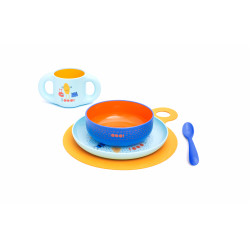 Suavinex Feeding Set Plate + Bowl Booo Blue