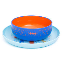 Suavinex Plate + Bowl Booo Blue
